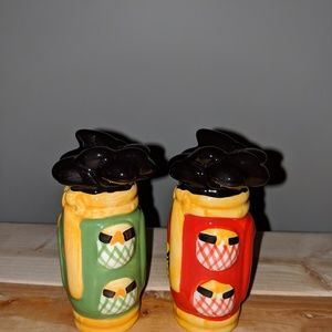 Adorbale golf club salt and pepper shakers